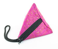 Triangle bag Stock Images