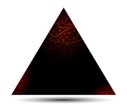 Triangle banner. Black banner with glowing decoration vector illustration