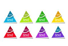 Triangle banners Royalty Free Stock Photo