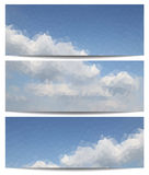 Triangle banners with deep blue sky Stock Image