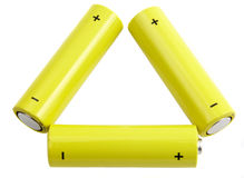 Triangle of batteries Royalty Free Stock Photos