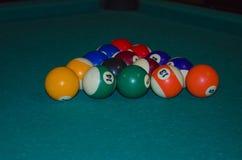 Triangle of billiard balls Stock Photography