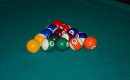 Triangle of billiard balls Royalty Free Stock Images