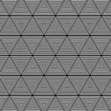 Triangle black and white pattern background royalty free illustration