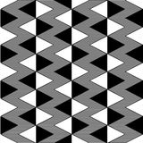 Triangle black and white seamless pattern Royalty Free Stock Images