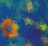 Triangle bleue, verte et orange Photos libres de droits
