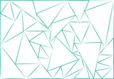 Triangle blue contour background stock photography