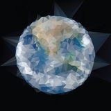 Triangle blue marble Royalty Free Stock Image
