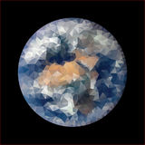 Triangle blue marble Royalty Free Stock Photography