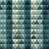 Triangle blue pattern seamless Royalty Free Stock Image