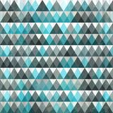 Triangle blue seamless Stock Image