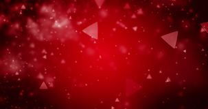 Triangle bokeh defocused lights seamless animation loop 4K video. High quality looping animation of abstract dark red background with triangle bokeh defocused stock footage