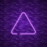 Triangle Border with Light Effects Royalty Free Stock Photos