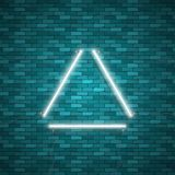Triangle Border with Light Effects Royalty Free Stock Image