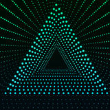 Triangle Border with Light Effects. Vector illustration for your business presentations. Royalty Free Stock Photo