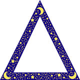 Triangle border with stars Royalty Free Stock Image