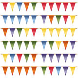Triangle bunting pack Royalty Free Stock Image