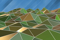 triangle business background Stock Image