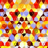 Triangle camouflage rainbow pattern, effect leafs, sand, in red, orange, yellow, ehite, brown, sunny colors. Triangle camouflage rainbow pattern, effect leafs vector illustration
