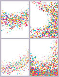 Triangle card colorful drawing set Stock Photography