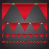 Triangle celebration flags Royalty Free Stock Image