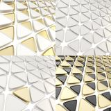 Triangle cell geometrical background Royalty Free Stock Image