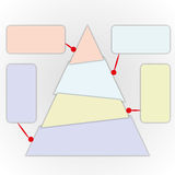 Triangle chart. Power of thinking by triangle chart Stock Image
