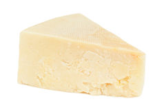 Triangle of cheese. On white Royalty Free Stock Photography
