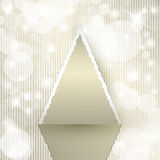Triangle Christmas tree Royalty Free Stock Images