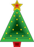Triangle Christmas Tree Stock Photography