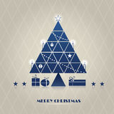 Triangle christmas tree Royalty Free Stock Photos