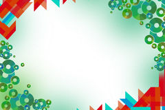 triangle and circle border, abstract background Stock Image