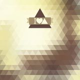 Triangle coffee brown color. Abstract background with triangles. coffee brown color. Geometric shapes. Place text on top Royalty Free Illustration