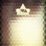 Triangle coffee brown color Royalty Free Stock Images