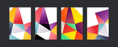 Triangle color covers set Stock Photos