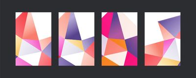 Triangle color covers set Stock Photography