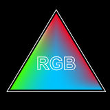 Triangle color system of the RGB background Stock Photo