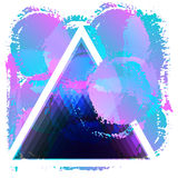 Triangle, colored blots Royalty Free Stock Image