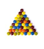 Triangle of colorfu Stock Images