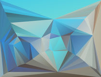 Triangle colorful mosaic backdrop. Geometric hipster triangle retro background, place your text on the top of it Stock Image