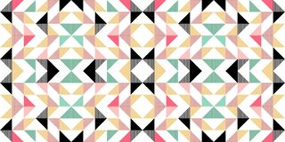 Triangle colorful pattern background for fashion textile print. Good for pillow, carpet, and blanket cover wrapping with trendy. Colors retro element vector vector illustration