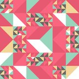 Triangle colorful pattern background for fashion textile print. Good for pillow, carpet, and blanket cover wrapping with trendy. Colors retro element vector stock illustration