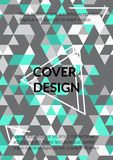 Triangle Cover Design. Template for Business Broshure,Cover Book, Flyer, Card. royalty free illustration