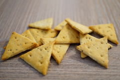Triangle crackers Stock Photography