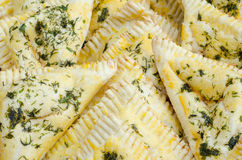 Triangle crispy pastry Royalty Free Stock Photo