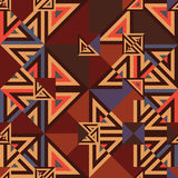 Triangle cut vintage color seamless pattern Stock Photography