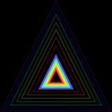 Triangle d'arc-en-ciel dans une autre triangle Images stock