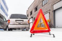 Triangle d'avertissement Image stock