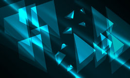 Triangle 3D Glowing Background Stock Images