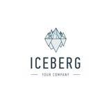 Triangle d'iceberg d'icône froide d'affaires de colline de vecteur d'abrégé sur montagne et de conception ou de calibre de logo d Photographie stock libre de droits